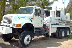 Drilling equipment  in Great Guana cay